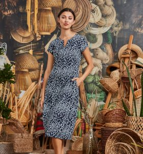 Fetts-Boutique-Wahroonga-Verge-Acrobat-Blink-Echo-Dress-7697LW-French-Ink